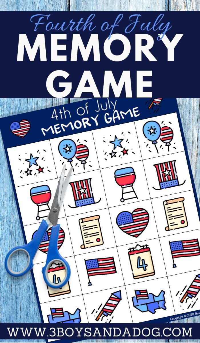 teaching memorization to preschoolers in a fun patriotic theme