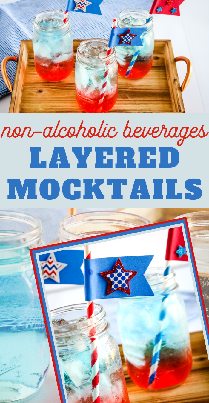 red white and blue drink non alcoholic beverage