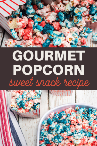 red and blue sweet popcorn makes a perfect snack for Independence Day