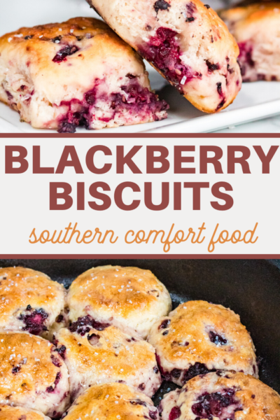 blackberries and biscuits make this southern breakfast treat