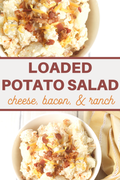 homemade cheesy bacon and ranch potato salad recipe