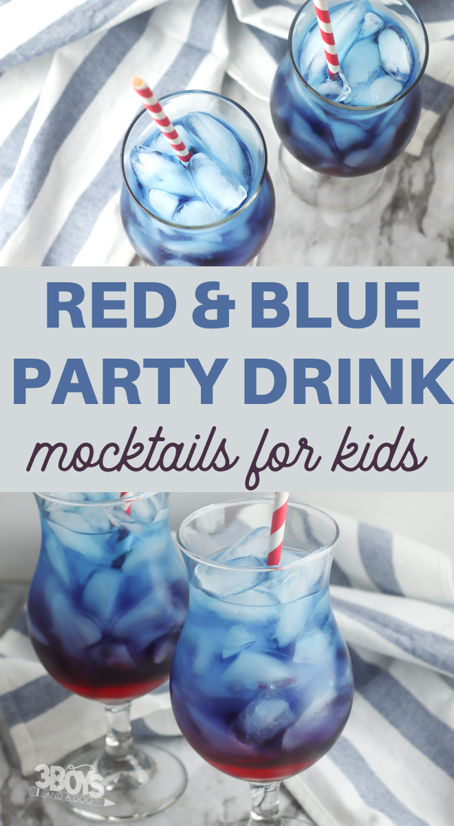 red and blue party drink for Independence day parties