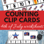 teaching counting to preschoolers in a fun patriotic theme