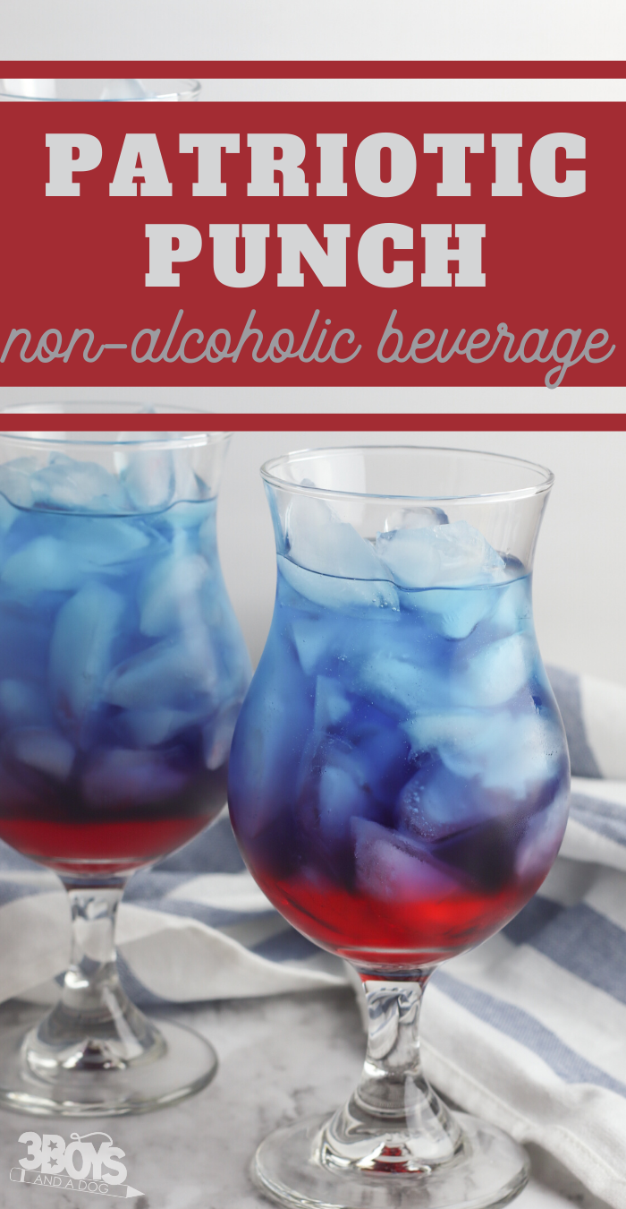 non alcoholic patriotic drink for kids parties