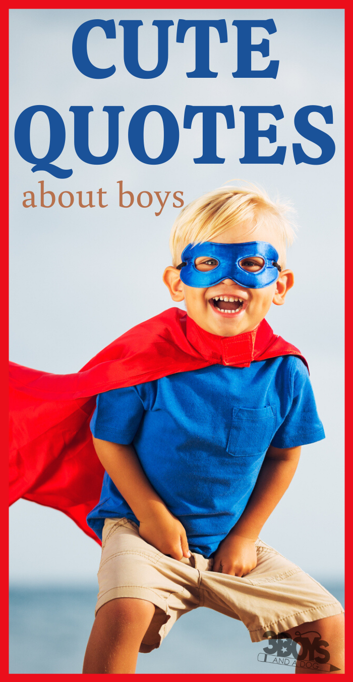 cute quotes about boys