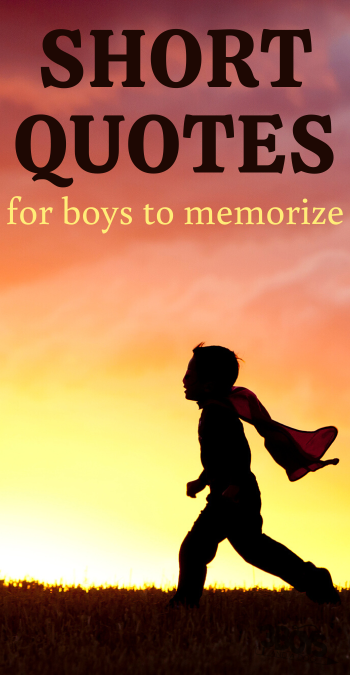 15 Sweet and Short Quotes for Boys – 3 Boys and a Dog