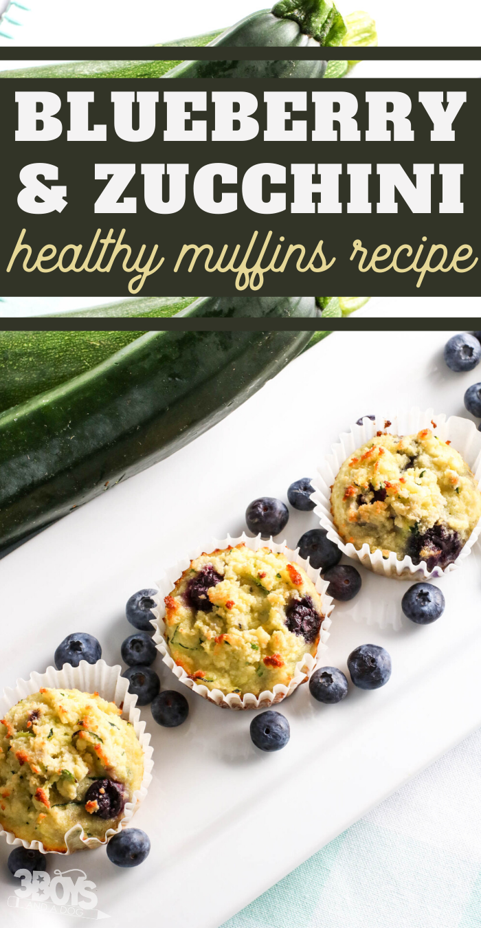 between the sweet coconut and tart bluberries no one will notice that these blueberry zucchini muffins are actually good for you