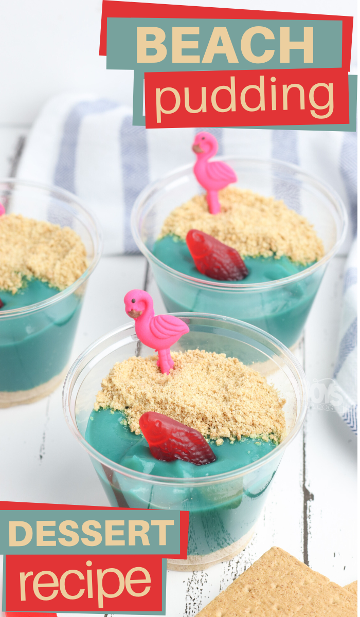 make these delicious beach pudding cups with a few simple ingredients