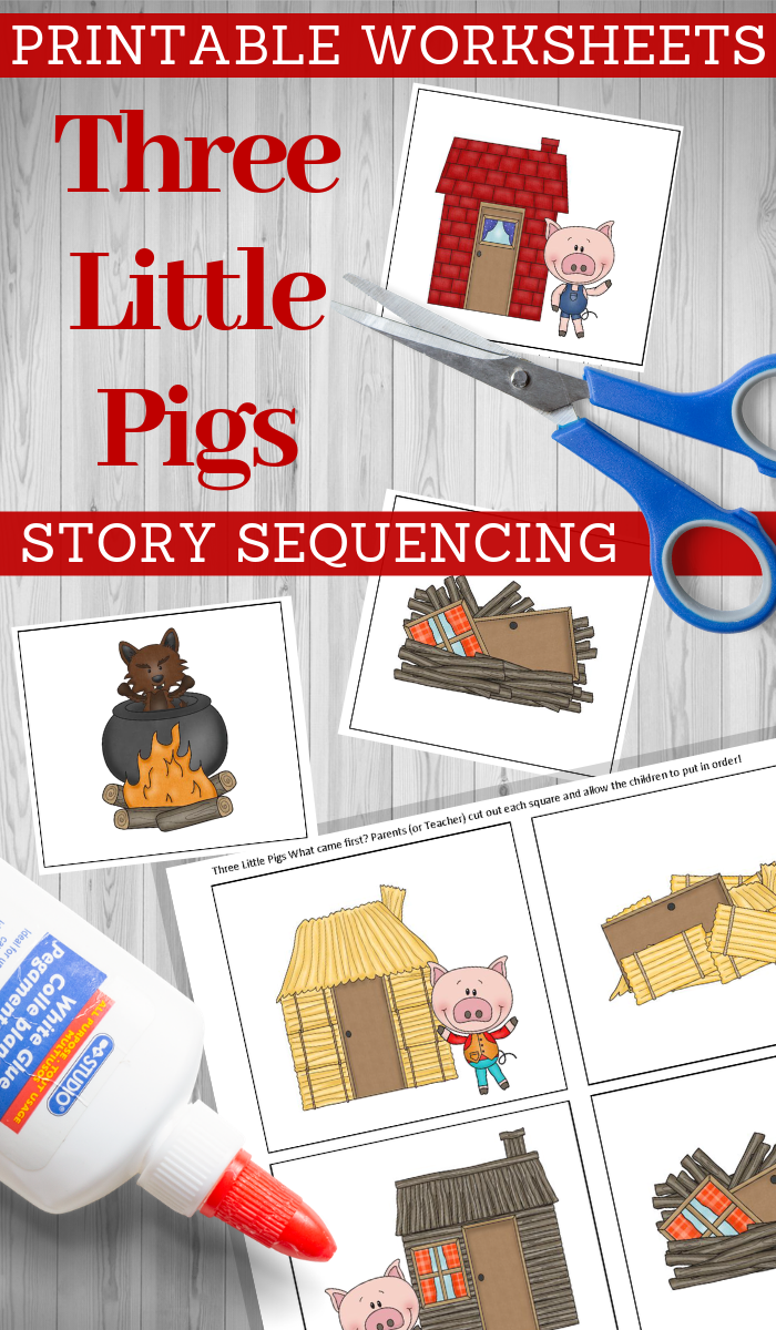 printable story cards for the three little pigs
