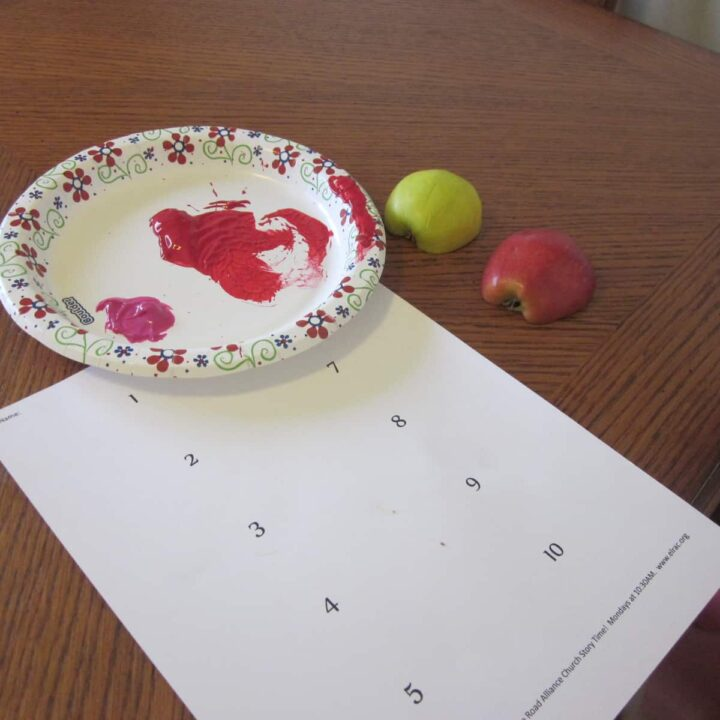 A is for Apple Painting Activity