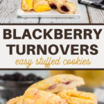 easy stuffed cookie blackberry turnovers