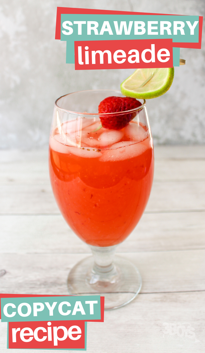 Sonic Copy Cat Strawberry Limeade Recipe at home