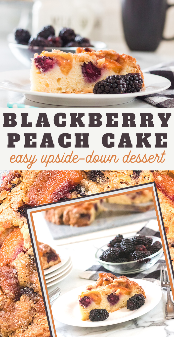 this blackberry and peach upside down cake is perfect for your next party