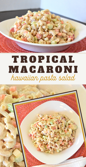 this pineapple pasta salad is perfect for your next luau