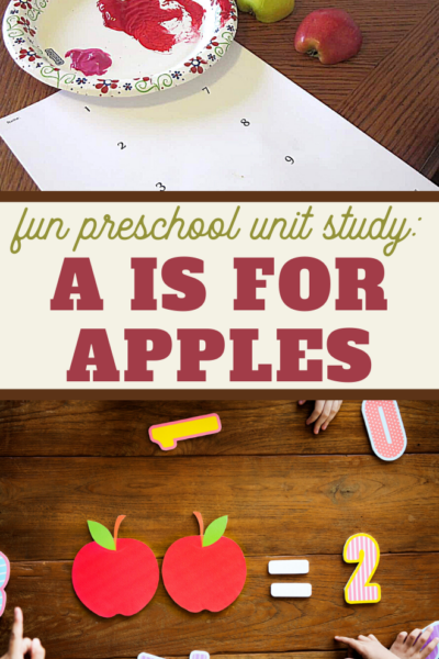 a is for apples prechool unit study