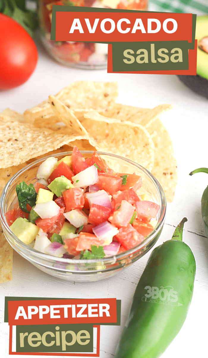 this avocado salsa is perfect for your next Mexican themed party