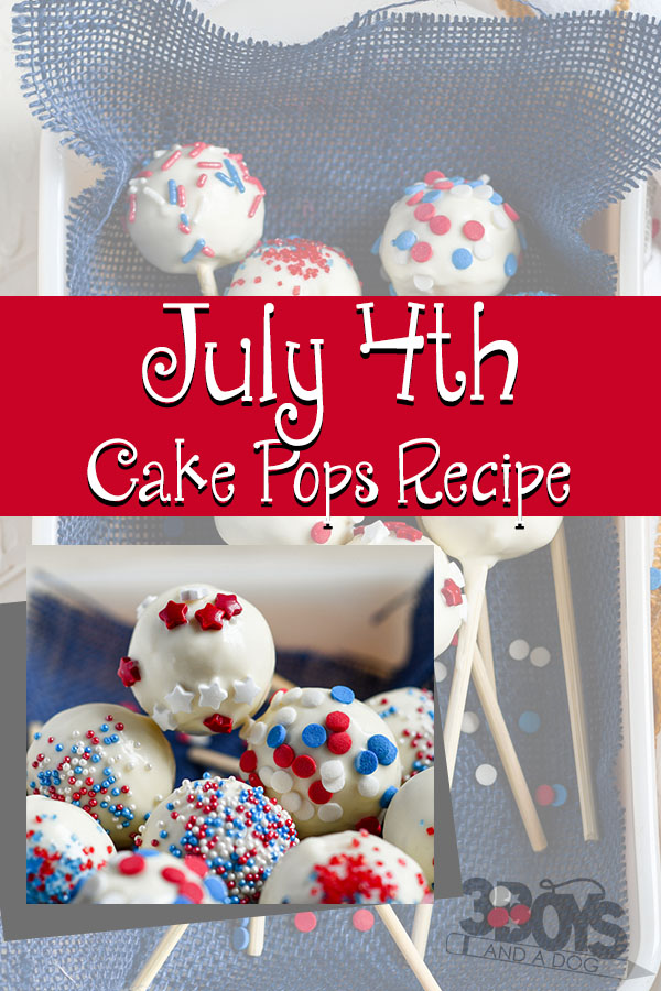 july 4th cake pops recipe