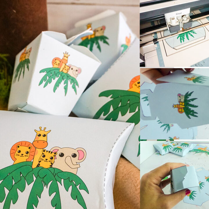 Jungle Themed Baby Shower Favor Boxes