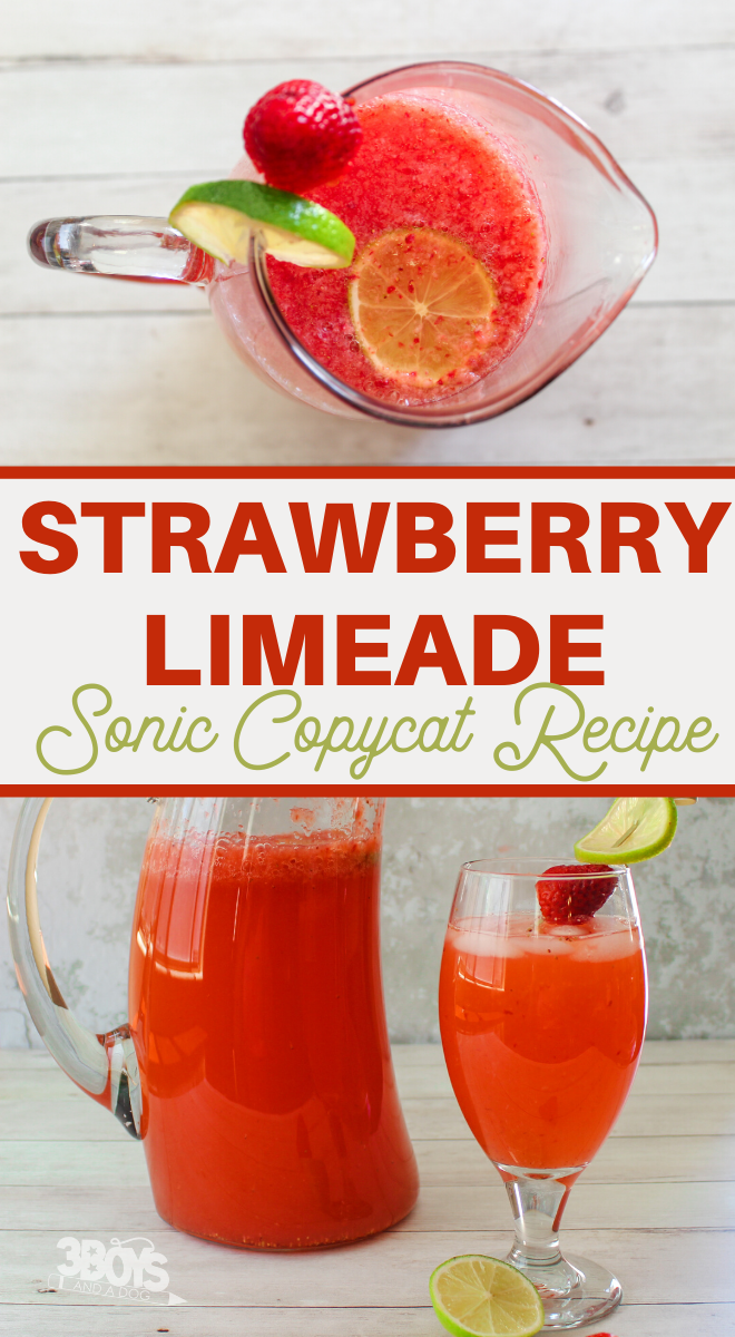 fun and delicious strawberry limeade beverage