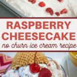 no churn raspberry cheesecake freezer ice cream recipe