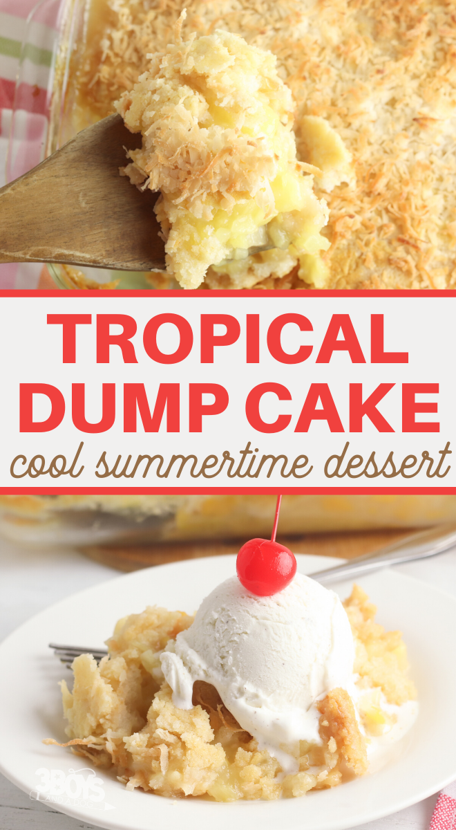 tropical dump cake dessert recipe