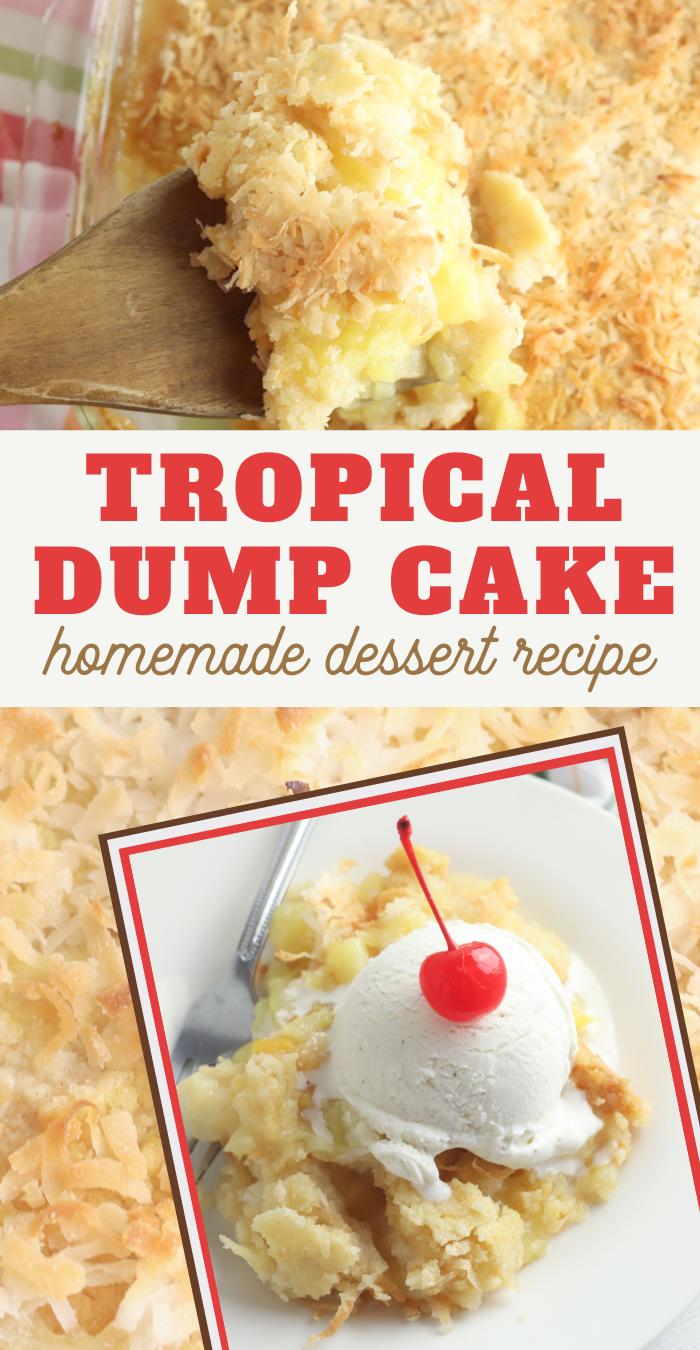 delicious dump cake recipe for your next luau