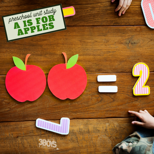 fun preschool unit study a is for apples