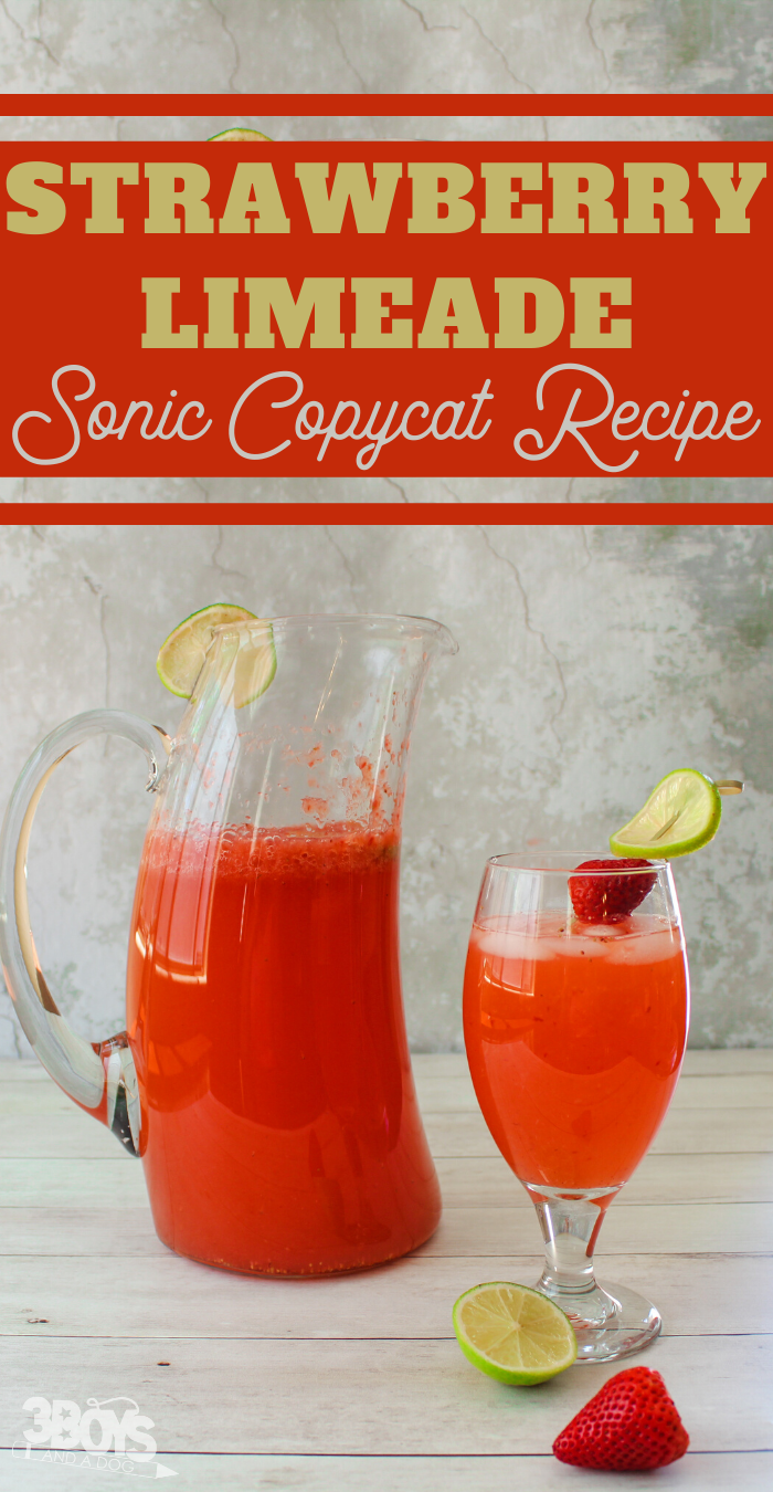 make a sonic strawberry limeade at home