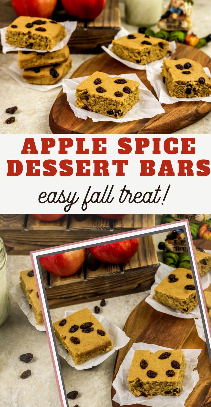 spiced applesauce bars