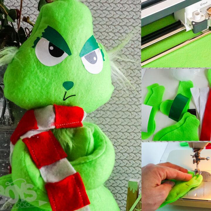 The Grinch Puppet Cricut Craft