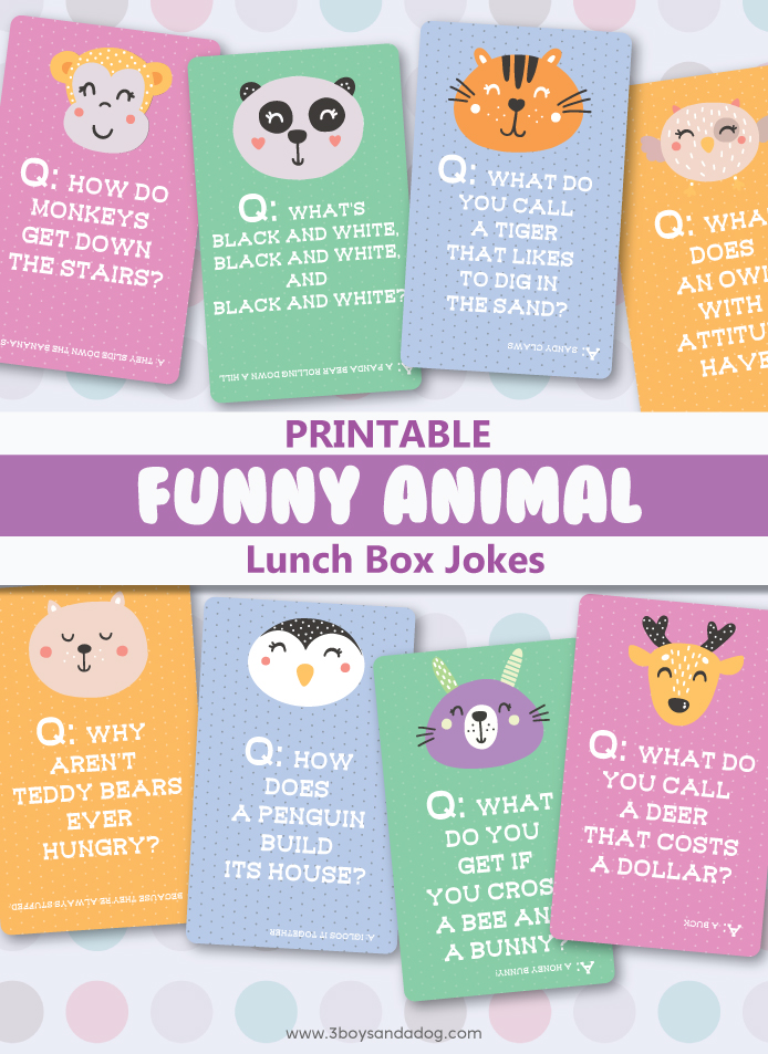 animal jokes lunchbox notes to print out