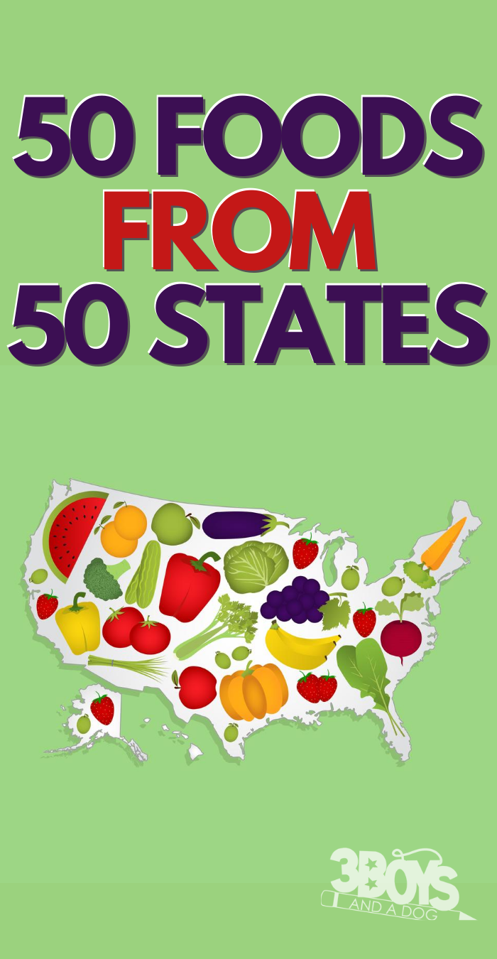 50 foods from 50 states with recipes