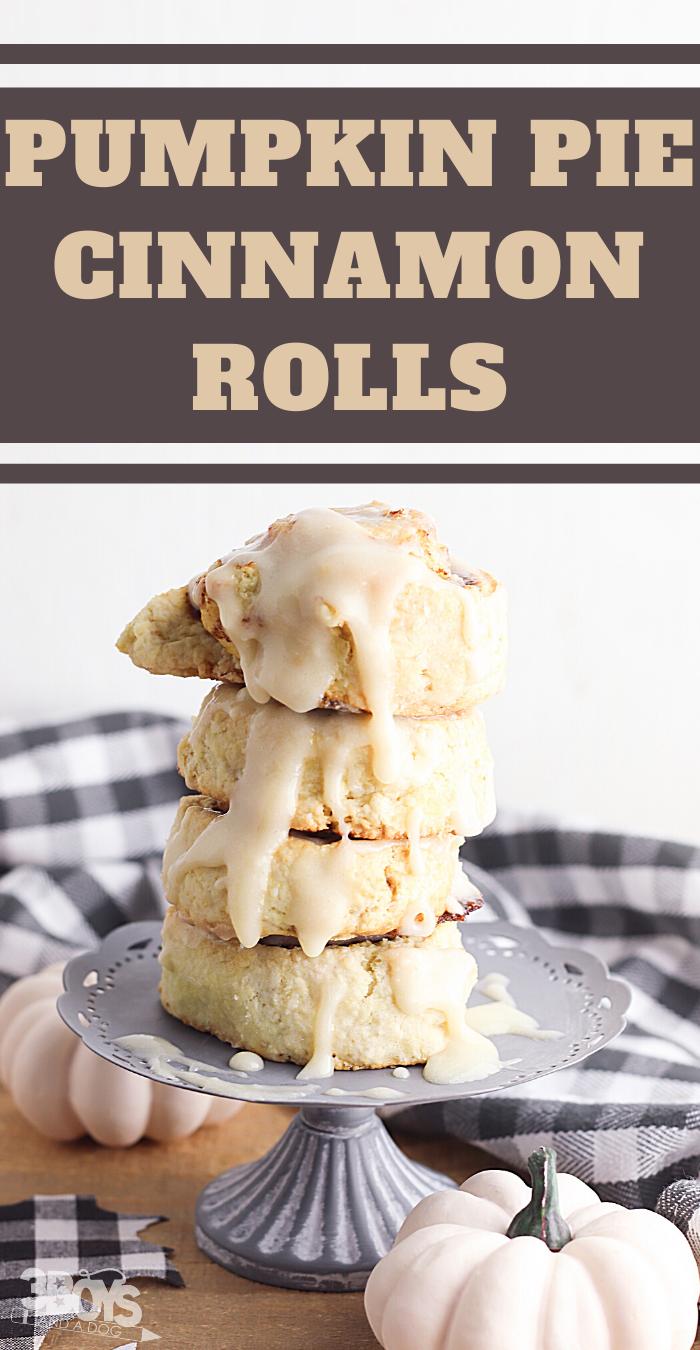 this pumpkin pie rolls recipe is the perfect fall breakfast dish