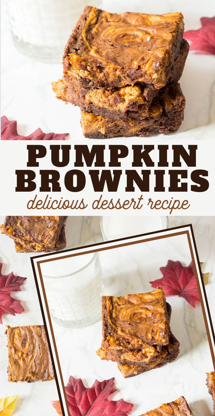 pumpkin brownies for fall