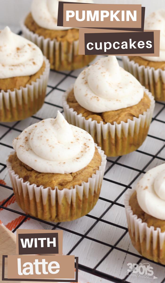 easy pumpkin latte flavored cupcakes