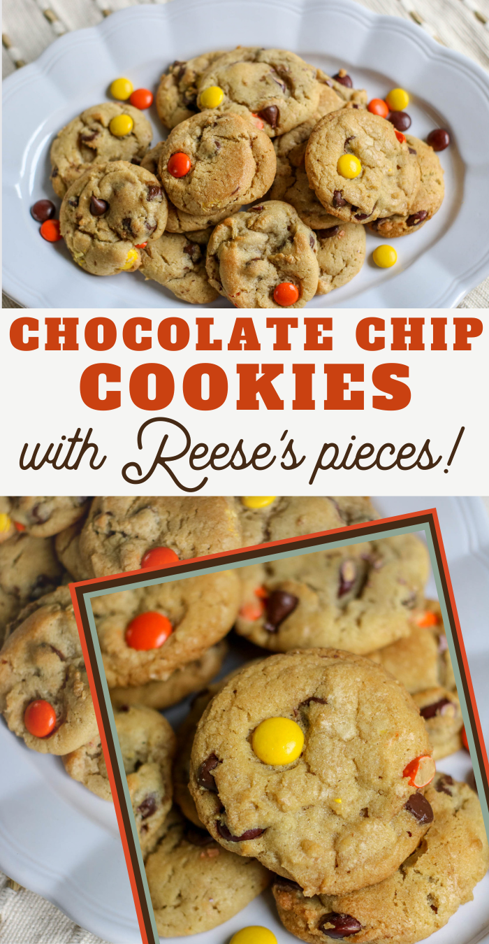 cookies with peanut butter candy pieces