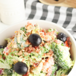 side dish recipe of delicious bacon and healthy broccoli