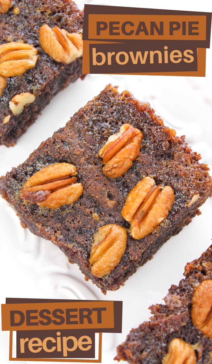 this pecan pie brownies recipe is perfect for an indulgent treat