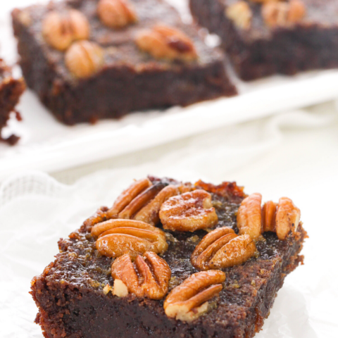 your guests will enjoy these brownies that taste like chocolate pecan pie