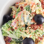 delicious bacon broccoli salad side dish recipe