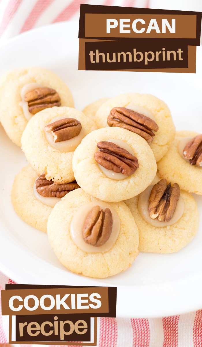 this pecan thumbprint cookies recipe is perfect for an indulgent Autumn dessert