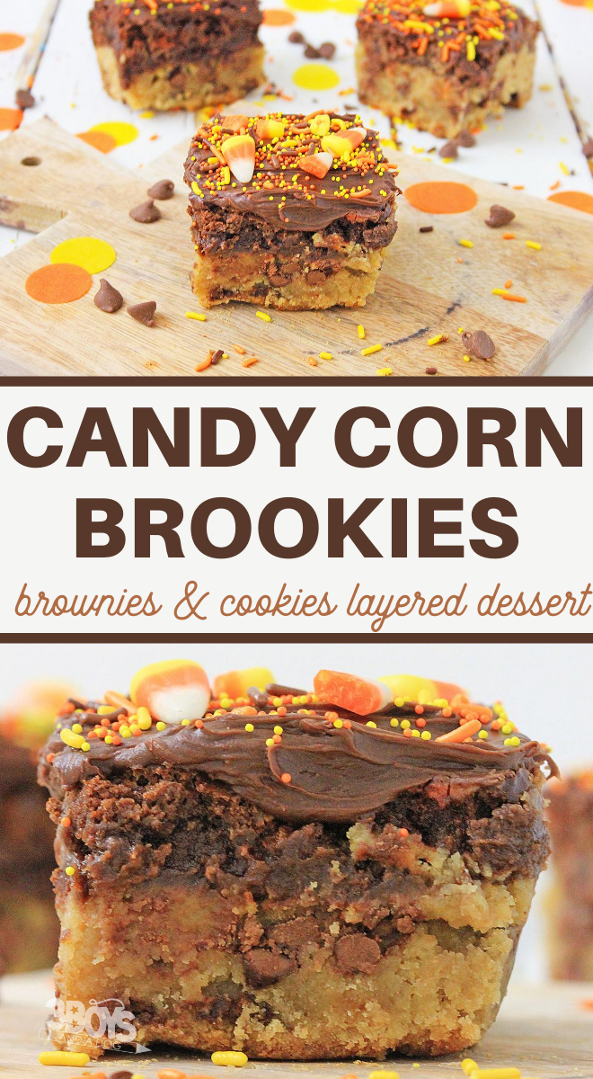 how to make delicious candy corn brookies at home