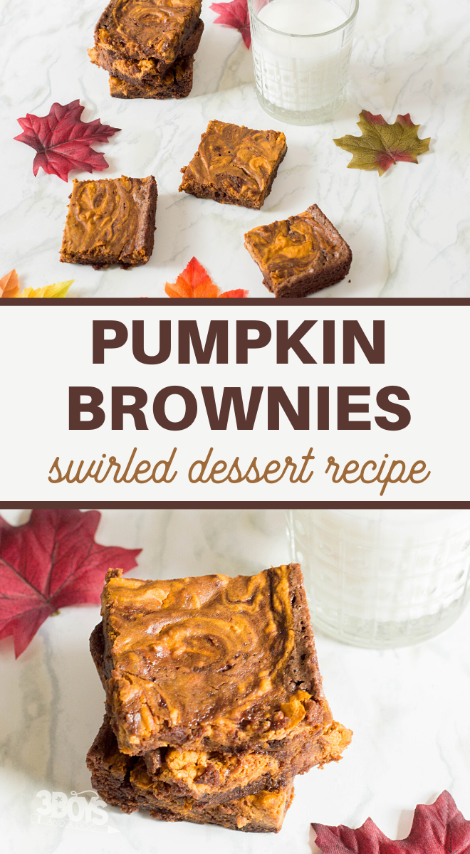 this chocolate and pumpkin brownie recipe is full of wonderful autumn flavors