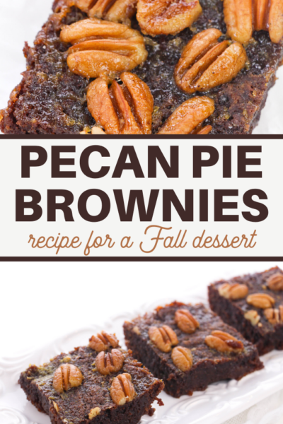 this holiday brownie recipe is full of wonderful pecan pie flavor