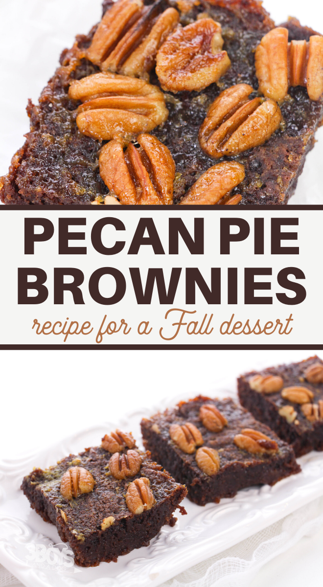 this holiday brownie recipe is full of wonderful pecan pie flavor