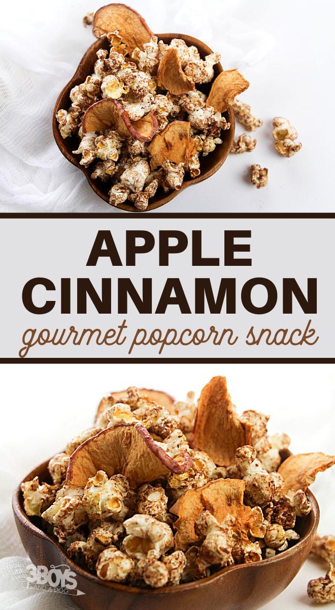 this apple cinnamon popcorn is full of wonderful autumn flavors