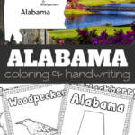 Alabama Coloring and Handwriting Sheets