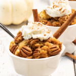 this pumpkin cobbler is the perfect fall dessert