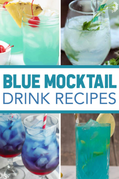 non alcoholic blue drinks
