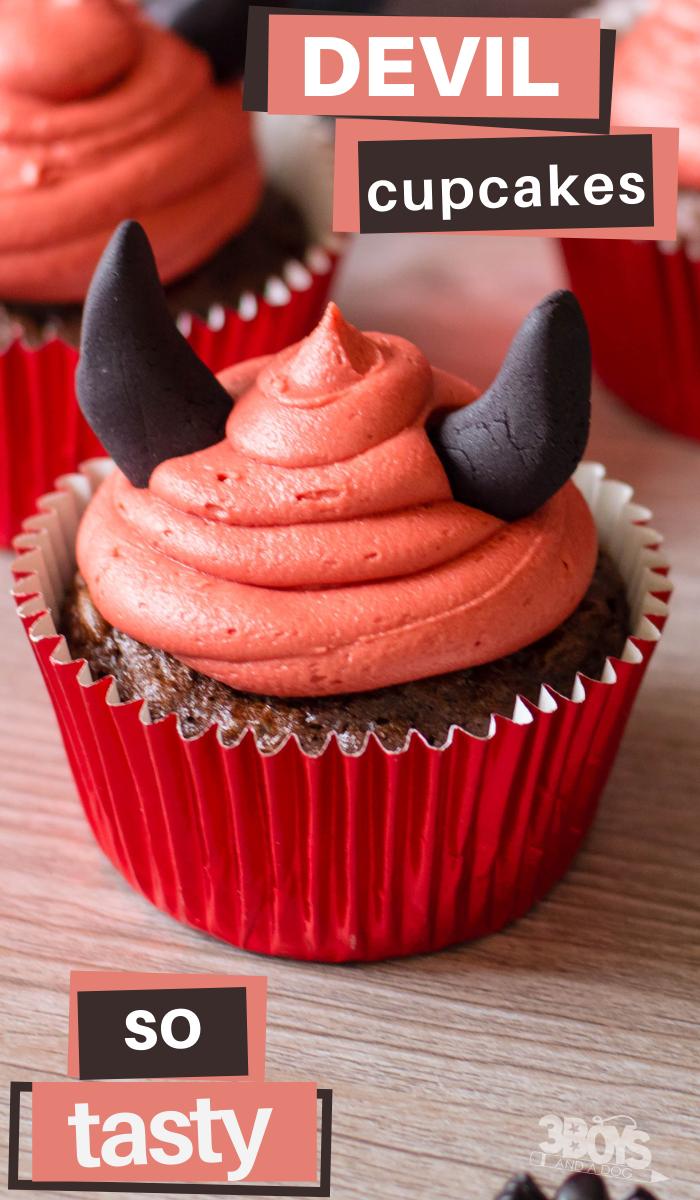 devil food cupcakes with devil horns